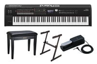 Roland RD-2000 Stage Bundle Stage Piano with Pedal, Stand, Deluxe Bench and Dust Cover