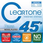 Cleartone Guitar Strings 6445 Medium Electric Bass Strings 6445-CLEARTONE