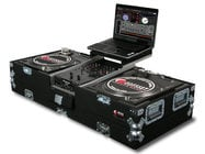 Odyssey CGSBM10  Carpeted Glide Style Series Universal Turntable DJ Coffin Case CGSBM10