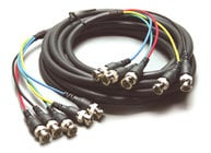 Kramer C-5BM/5BM-10 Molded 5 BNC-BNC Cable, 10 ft. C-5BM/5BM-10