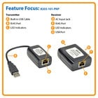 Tripp Lite B203-101-PNP  1-Port USB 2.0 over Cat5 Extender Transmitter & Receiver