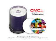 JVC TDMR-WPP-SK16 CMC Pro 4.7GB, 16X, White Inkjet (Hub Printable) 100-Disc Tape Wrap