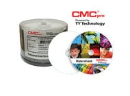 "JVC TDMR-WPP-SB16-WS 16x White Inkjet Printable, CMC Pro ""Water Shield"", 50-Disc Cakebox"