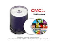 JVC TDMR-WPT-SK16 CMC Pro DVD-R, 4.7GB, 16X, White EVEREST Thermal (Hub Printable), 100 Disc Tape Wrap