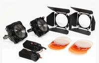 F8-100 Daylight Dual Head ENG Kit Two F8-100 Daylight LEDs with Gold Mount Adapters