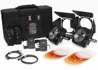 F8-200 Daylight Dual Head ENG Kit Two 200W Daylight LED Fresnels with Case and V-Mount Adapters