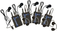 VocoPro UBP [RESTOCK ITEM] Wireless Bodypack Set with Headsets and Lavalieres UBP-RST-01