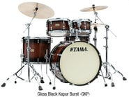 Tama LKP42HTSGKP  S.L.P. Dynamic Kapur 4-piece Shell Pack, Gloss Black Kapur Burst