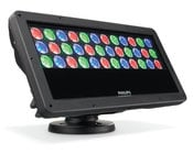 Philips Color Kinetics ColorBlast Powercore gen4, RGB 100-277 VAC Exterior LED Flood Fixture with Intelligent Color Light in Black Housing