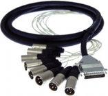 Pro Co DA88XM-10 [RESTOCK ITEM] 10 ft. DB25 Multipin to 8x XLR-M Analog D-Sub Studio Patch Cable