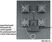 "Integrated Fan Rack Top for WRK, MRK, DRK, VRK, VMRK Racks, 200 CFM with four 4.5"" fans"