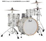Pearl Drums SF-MCCRFP-4P-C416-KI Music City Custom 5-Piece Kit [SUMMERFEST] 5-Piece Shell Pack C416 in Black N' White Oyster Finish with Gator Elite Air Cases