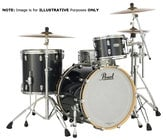Pearl Drums Music City Custom 6-Piece C425 Kit [SUMMERFEST] 6-Piece Music City Custom MRV Shells with Charcoal Black Sparkle Finish