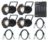 ADJ LED Par Package with Controller and DMX Cables