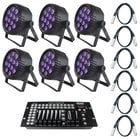 Blizzard Lighting LED Par Pack with Free Controller and DMX Cables