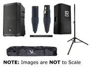 Electro-Voice ELX200-10P-SINGLE-K Powered Speaker Bundle with Cover, Stand, Stand Bag and XLR Cable
