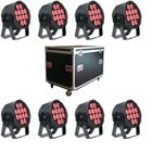 Elation Pro Lighting SIX-PAR-200-8PACK-K LED Par Package with Road Case