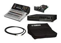Yamaha TF1 Starter Pack Bundle With TF1 Mixer + NY64-D + Tio1608-D + Cover + CAT6 Cable