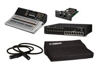 Yamaha TF3 Starter Pack Bundle With TF3 Mixer + NY64-D + Tio1608-D + Cover + CAT6 Cable