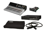 Yamaha TF5 Starter Pack Bundle With TF3 Mixer + NY64-D + Tio1608-D + Cover + CAT6 Cable