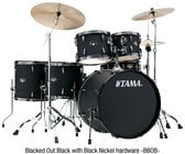 Tama IP62NBC  ImperialStar Set wtih Meinl Cymbals, 6 Piece Drumset wiht Black Nickel Hardware