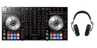 Pioneer DDJ-SX2-PK2-K DDJ-SX2 DJ Controller Bundle with HDJ2000 Headphones