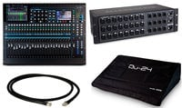 Allen & Heath QU-24C-STARTER-PCK-K 24-Channel Digital Mixer and Stagebox Bundle