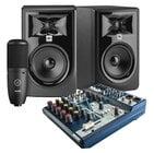 Harman Studio Production Suite Bundle Includes: NOTEPAD-8FX, P120-AKG, (2) LSR305P-MKII