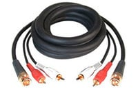 25 ft 2x RCA to 1x BNC Dubbing Cable