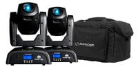 ADJ POCKET-PRO-PAK Pocket Pro Pak Moving Head Package with (2) Pocket Pro Fixtures and (1) F4 Par Bag