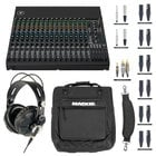 Mackie Analog Mixer Bundle with Bag, Cables and Headphones
