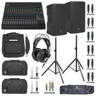 Mackie PA System Bundle with Mixer, Speakers, Headphones, Bags, Stands and Cables
