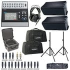 QSC TOUCHMIX-30-K12.2-K PA System Bundle with Mixer, Speakers, Headphones, Bags, Stands and Cables