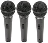 3-Pack of Dynamic Hypercardioid Microphones