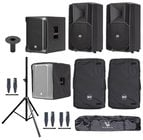 RCF ART-708A-SUB-K Speaker and Sub Bundle with Speakers, Sub, Covers, Stands and Cables