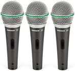 3-Pack of Q6 Dynamic Supercardioid Handheld Microphones