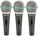 Samson Q6-DYNAMIC-3PK 3-Pack of Q6 Dynamic Supercardioid Handheld Microphones