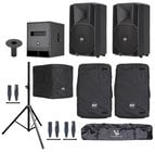 RCF ART-710A-SUB-K Speaker and Sub Bundle with Speakers, Sub, Covers, Stands and Cables