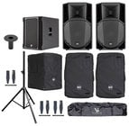 RCF ART-715A-SUB-K Speaker and Sub Bundle with Speakers, Sub, Covers, Stands and Cables