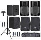RCF ART-732A-SUB-K Speaker and Sub Bundle with Speakers, Sub, Covers, Stands and Cables