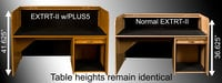 """HSA Rolltops PLUS5 5"""" Extra Height Option for Low-Profile Desks"""