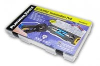 Platinum Tools EZ-RJPRO Termination Pod EZ-RJ45 Field Kit with Crimp Tool, Connectors and Jacket Stripper