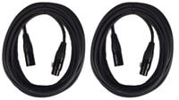 Cable Up MIC-30-TWO-K XLR Microphone Cable Bundle with (2) 30 ft Heavy Duty XLR to XLR Microphone Cables