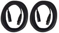 Cable Up by Vu XLR Microphone Cable Bundle with (2) 30 ft Heavy Duty XLR to XLR Microphone Cables