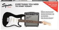 Squier (Fender) Strat® Pack SS Guitar Pack with Short Scale Stratocaster and Frontman 10G Amplifier