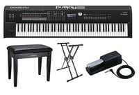 Roland RD-2000FC RD-2000 Stage Bundle Stage Piano with Pedal, Stand, Deluxe Bench and Dust Cover