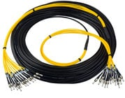 Camplex HF-TS12LC-0100 12-Channel Tactical Fiber Optical Snake 100 ft Fiber Optic Snake with LC Single Mode Connectors