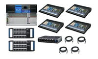PreSonus STUDIOLIVE-32-AVB1-K StudioLive 32 Digital Mixer Bundle with Mixer, Stageboxes, Personal Monitor Mixers and Cables