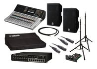 Yamaha TF3 Digital Mixer Bundle with Stagebox + Active Speakers + Stands + Cables