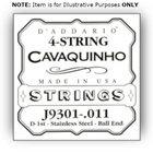 D`Addario J6401  J6401 Plain Steel Dulcimer Single String, .012